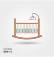 baby cradle bed icon vector image