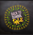 back to school sale in sketch frame vector image vector image