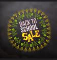back to school sale in sketch frame vector image