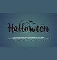 background halloween night design vector image vector image
