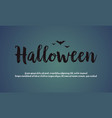 background of halloween night design vector image vector image