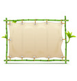bamboo frame with canvas vector image vector image