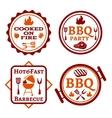 Barbecue logo vector image vector image
