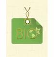bio shopping tag vector image vector image
