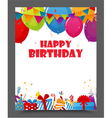 birthday celebration party card design vector image