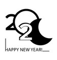 black and white symbols 2020 happy new year vector image