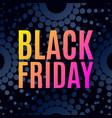 black friday sale halftone dots vector image vector image