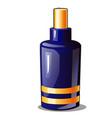 blue aerosol spray a ceramic or glass bottle vector image