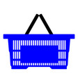 blue empty shopping basket isolated on white vector image vector image