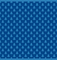 blue repeating geometrical xmas tree pattern vector image vector image