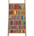 book shelf clip art cartoon vector image vector image