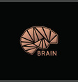 brain logo icon design vector image