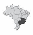 brazil southeast region vector image vector image