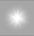 burning rays of light vector image vector image