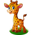 cartoon baby giraffe vector image