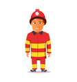 Cartoon Firefighter Character isolated on white vector image vector image