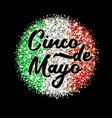 chinko de mayo sparkling phrase vector image