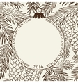 Christmas frame with pinecone vector image
