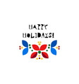 christmas wreath scandinavian flat vector image
