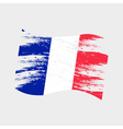 color france national flag grunge style eps10 vector image vector image