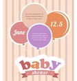 Colorful party balloons celebrating a newborn baby vector image vector image