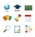 Colorful School Icon Set vector image vector image