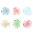 colorful watercolor circle splash with golden vector image vector image