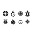 compass icon set simple style vector image vector image