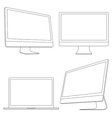 Computer displays and laptop vector image