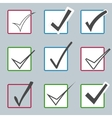 confirm icons set Yes icon Check Mark vector image vector image