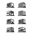 Different facades of buildings vector image vector image