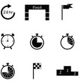 finish icon set vector image vector image