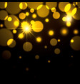 fireworks sparks in yellow color on black vector image