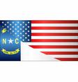 flag of usa and north carolina state vector image