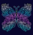 floral abstract butterfly vector image vector image