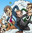 Four men brawl vector image vector image