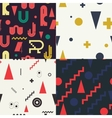 Geometric set seamless pattern vector image vector image