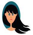 girl with blue eyes on white background vector image vector image
