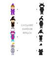 Halloween shadow matching game for kids vector image