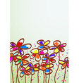 Hand drawn childish flowers vector image vector image