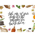 hand drawn quote about spa graphic elements in vector image vector image