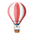 hot air balloon isolated on white vector image