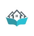 house book logo vector image vector image