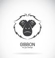 Image of a gibbon head design vector image vector image