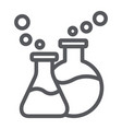 lab glassware line icon science and laboratory vector image