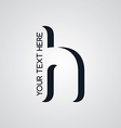 letter theme logotype vector image vector image