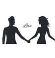 love of man and woman depicted in couple postures vector image vector image