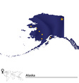 Map of Alaska with flag vector image