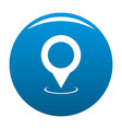 map pointer icon blue vector image vector image