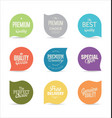 modern badges and labels collection 4 vector image vector image